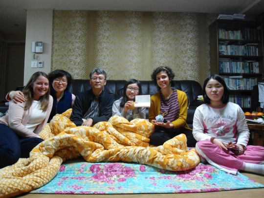 With my Korean family!