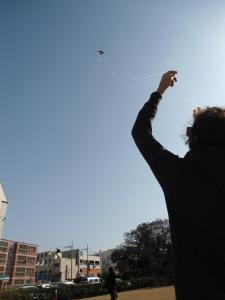 Karima doing an amazing job with that kite!